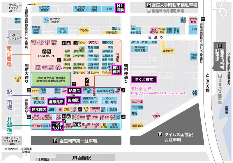 函館朝市地圖