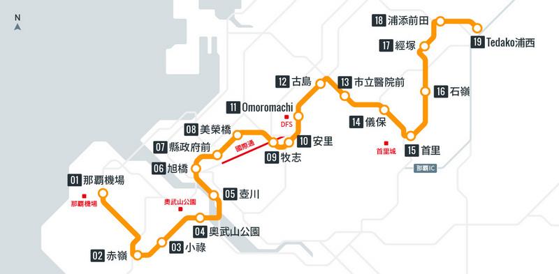 單軌電車路線圖