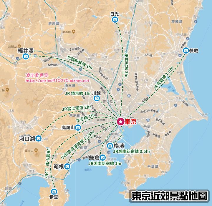 東京近郊地圖