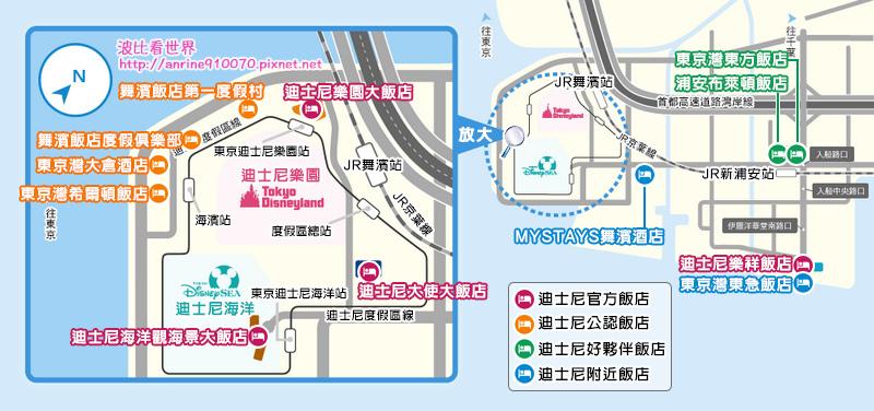 東京迪士尼飯店地圖