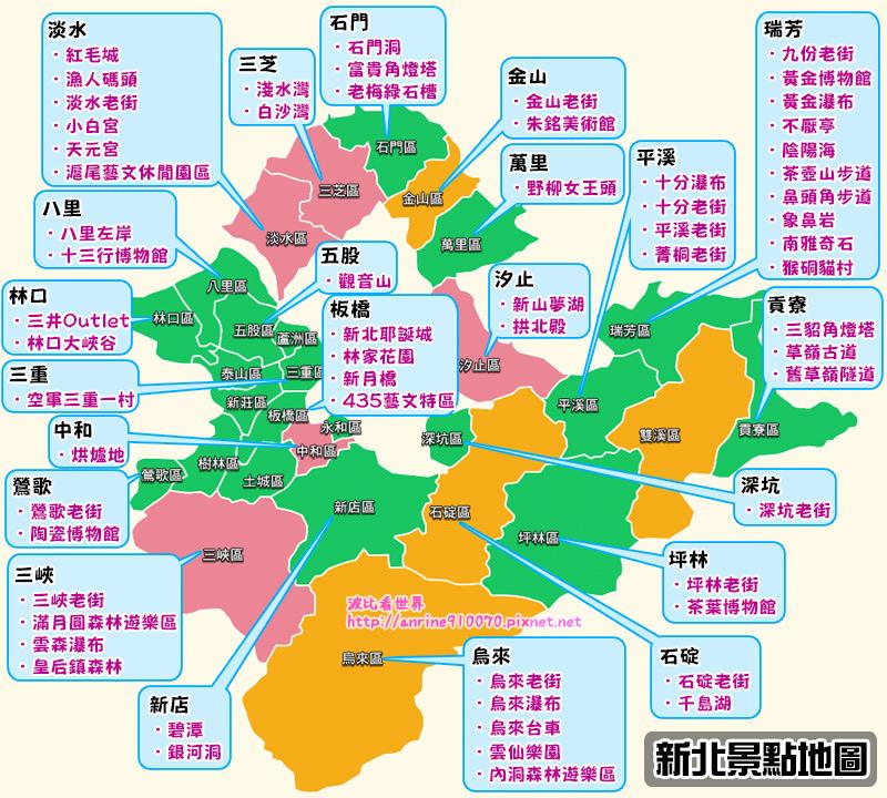 新北景點地圖