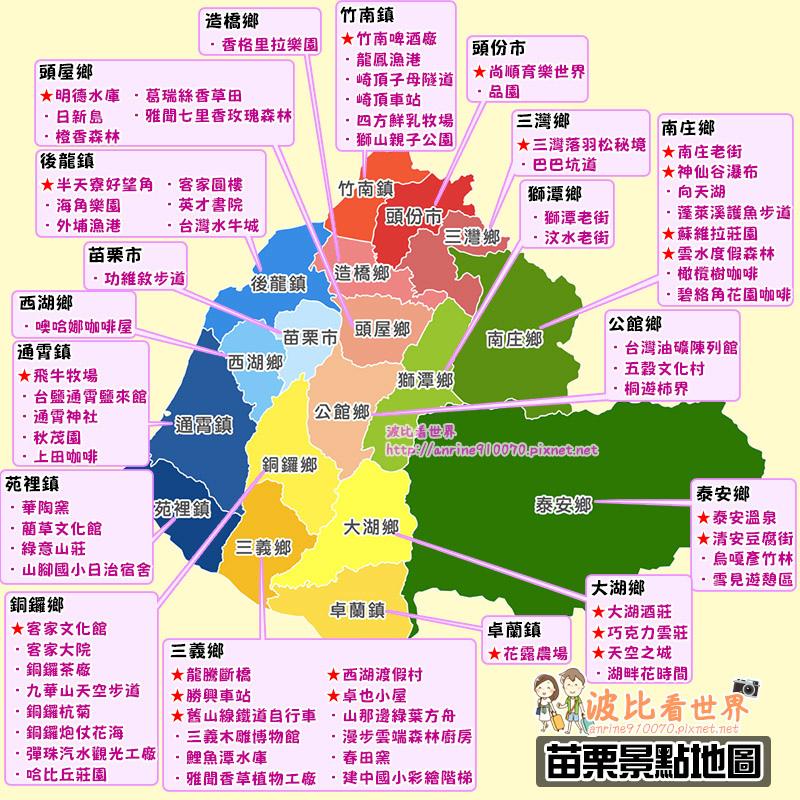 苗栗景點地圖