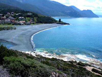 Cap Corse的灰沙灘