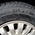 可愛的輪胎標記