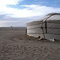 此行第一次住蒙古包