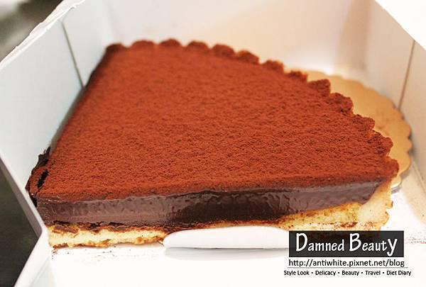深夜裡的法國手工甜點焦糖核果蜂蜜乳酪塔生巧克力塔超厚層生巧克力塔宅配推薦地址01