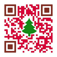 紅色禮物造型QR code