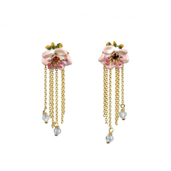 boucles-doreille-mi-longues-anemone-creme-et-chaines