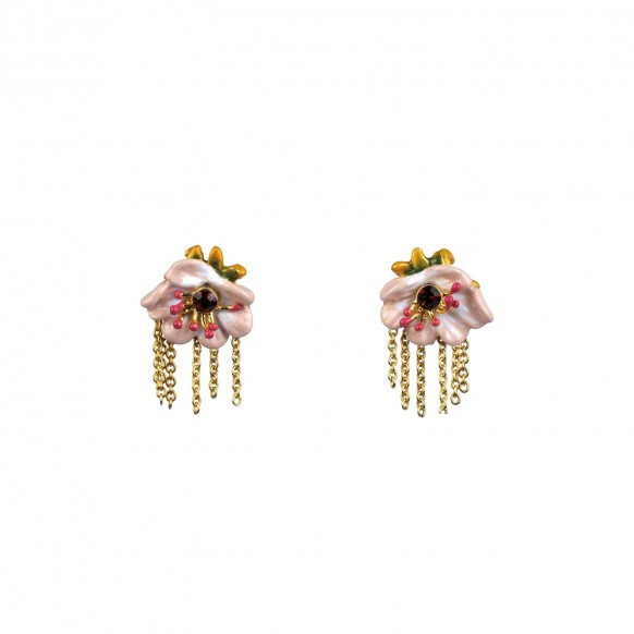 cream-anemone-and-chain-earrings