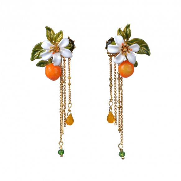 orange-orange-blossom-and-chains-earrings