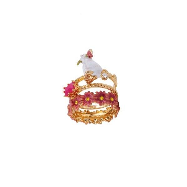 bague-3-anneaux-lapin-verre-taille-et-couronne-de-fleurs (1)