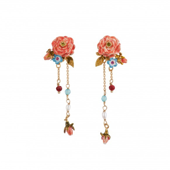 bloomed-rose-blue-flowers-chains-and-charms-earrings
