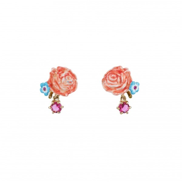 rose-little-flower-and-faceted-glass-earrings