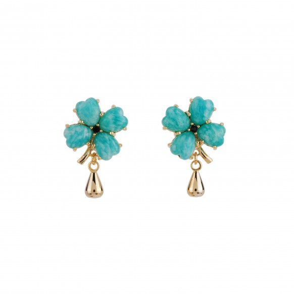 four-leaf-clover-and-bead-drop-earrings
