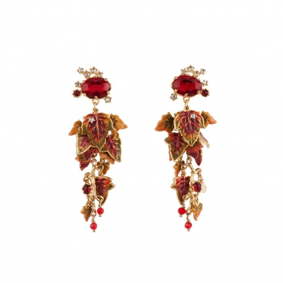 red-faceted-glass-crystals-and-leaves-couture-earrings