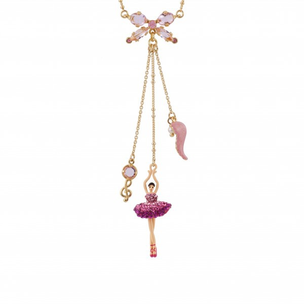 ballerina-paved-with-raspberry-crystals-and-treble-clef-necklace (1)