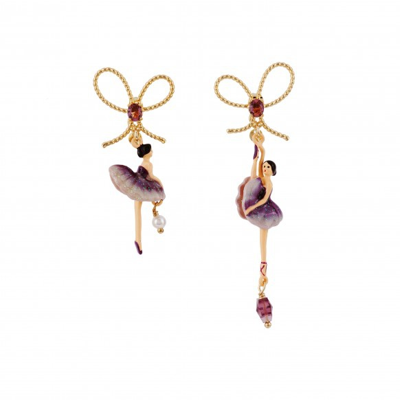 deep-purple-asymmetrical-ballerina-earrings