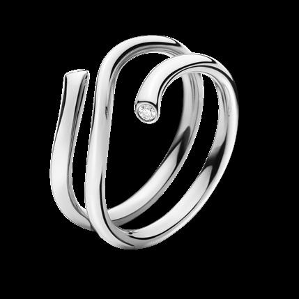 MAGIC-18K-白金戒指鑲嵌美鑽-
