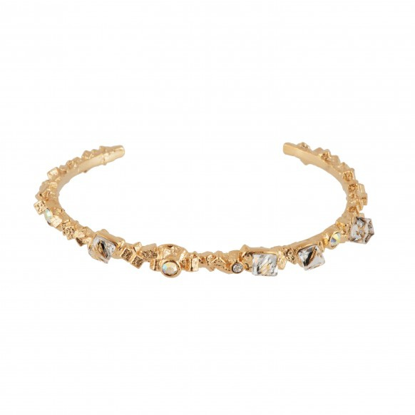 rock-heap-of-golden-cubes-and-faceted-glass-semi-rigid-bracelet-s