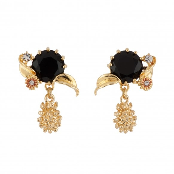 black-faceted-glass-leaves-and-golden-blackberry-earrings