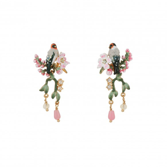 bird-on-a-branch-of-cherry-blossom-charms-and-rhinestones-earrings