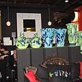 法藍瓷展場內部花瓶