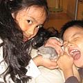 蘇家兩寶與小老鼠
