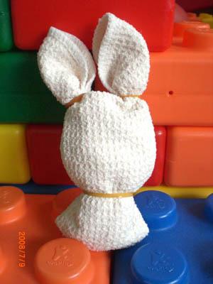 可愛毛巾兔