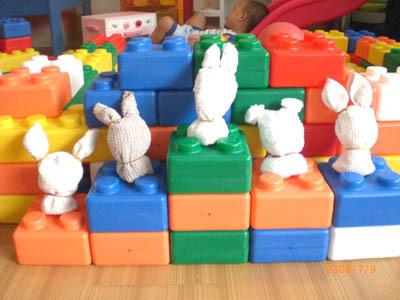 媽媽們的成品---可愛毛巾兔