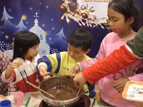 2008平安夜大餐_巧克力鍋.JPG