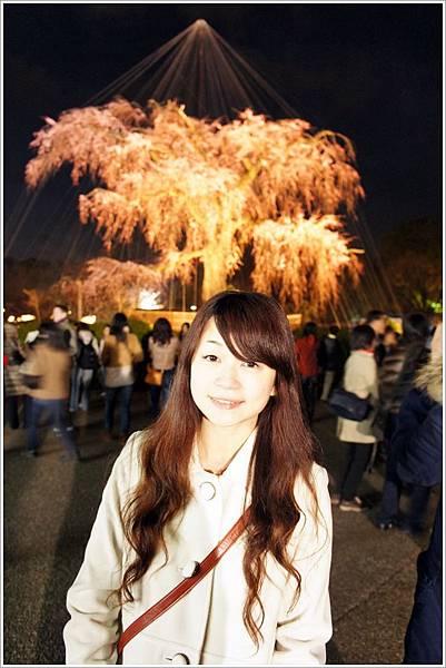 【2012關西甜滋滋蜜月旅行】- 圓山公園賞夜櫻 (7).JPG