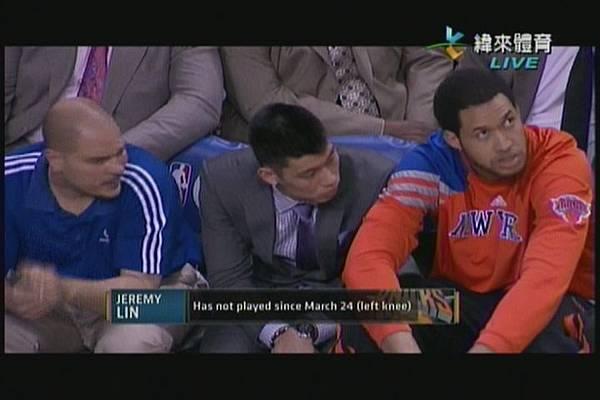 林書豪季後賽第一輪缺賽中