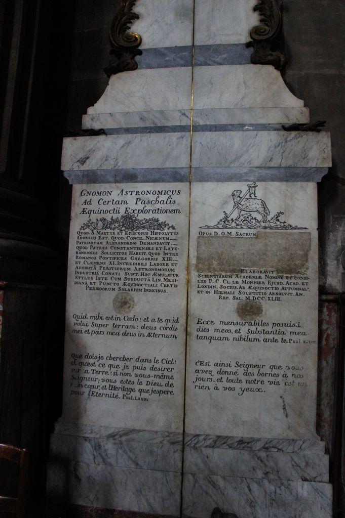 DSC00798-教堂的說法是金銅線,從來就不叫玫瑰線,也沒有跟巴黎子午線重疊,整個設計是古代的日晷儀