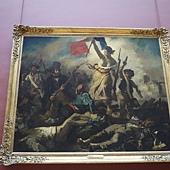 P1040262@羅浮宮  - 自由女神領導人民........現場看真品,人物表情令人震撼
