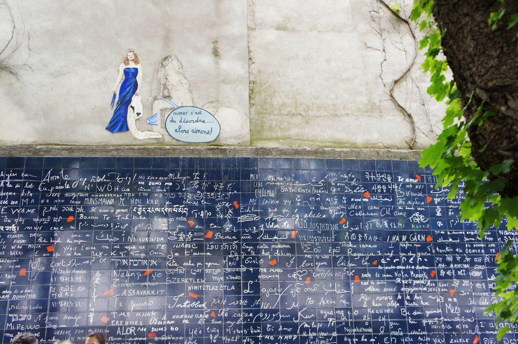 DSC00903巴黎的「我愛你之牆(Le Mur des Je t'Aime)」