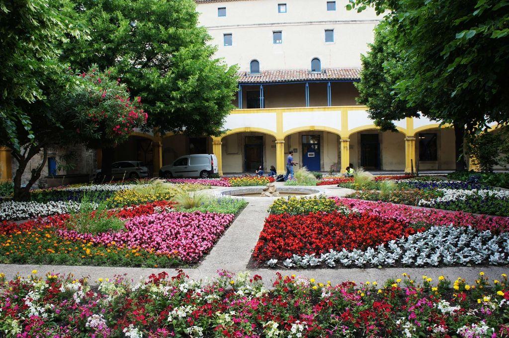 DSC01446-這座醫院在改建為文化中心,醫院中保留了梵谷當年的眼前的花草舊觀.JPG