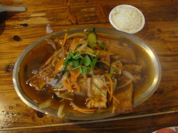 上菜囉! 鐵板豆腐