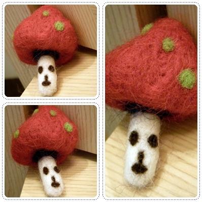 幸好成功了,第一朵香菇人