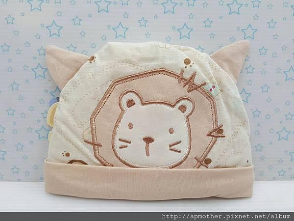 有機綿~鬆緊帶嬰兒帽