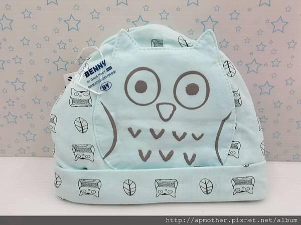 咕咕貓~鬆緊帶嬰兒帽