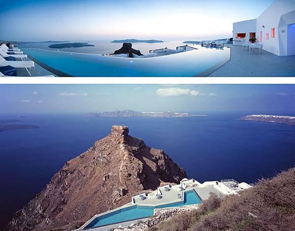 """""""蜜月島""""上的Santorini Grace酒店"""
