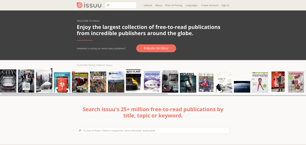 ISSUU   Digital Publishing Platform for Magazines  Catalogs  and more