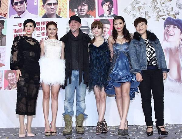 【金雞sss】香港首映會 吳君如(左起)&衛詩雅&黃秋生&林宜芝&蔚雨芯