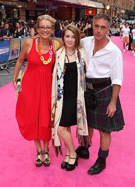 《舞力假期》首映會艾瑪湯普遜蓋雅懷斯葛瑞格懷斯一家人