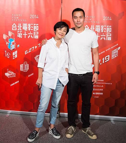 張艾嘉與張孝全《20.30.40》映後《念念》片段曝光會後-台北電影節提供