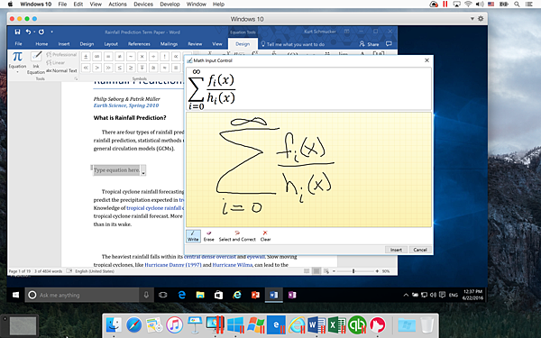Entering an Ink Equation in Word for Windows 2016 on a Mac.png