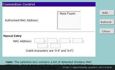 加入可連線的MAC位址