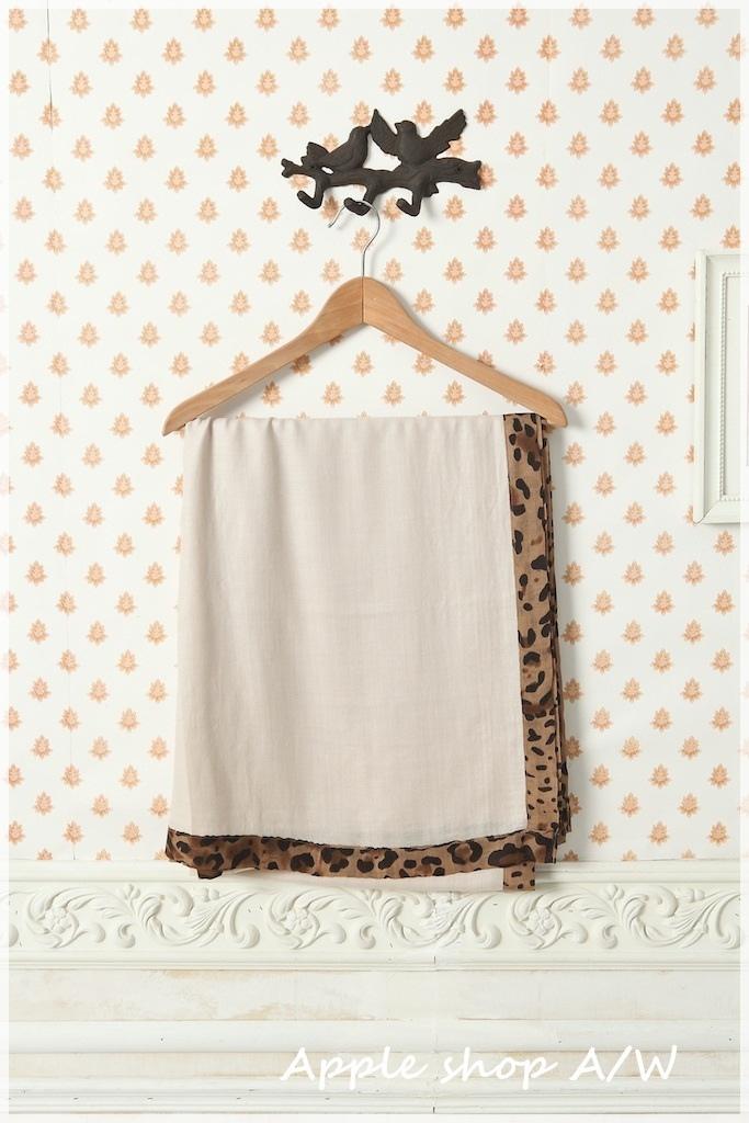 12000元滿額禮豹紋圍巾(米色) 1.JPG