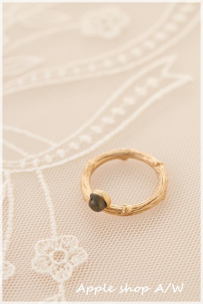 H006  綠寶石枝節設計感戒指 1