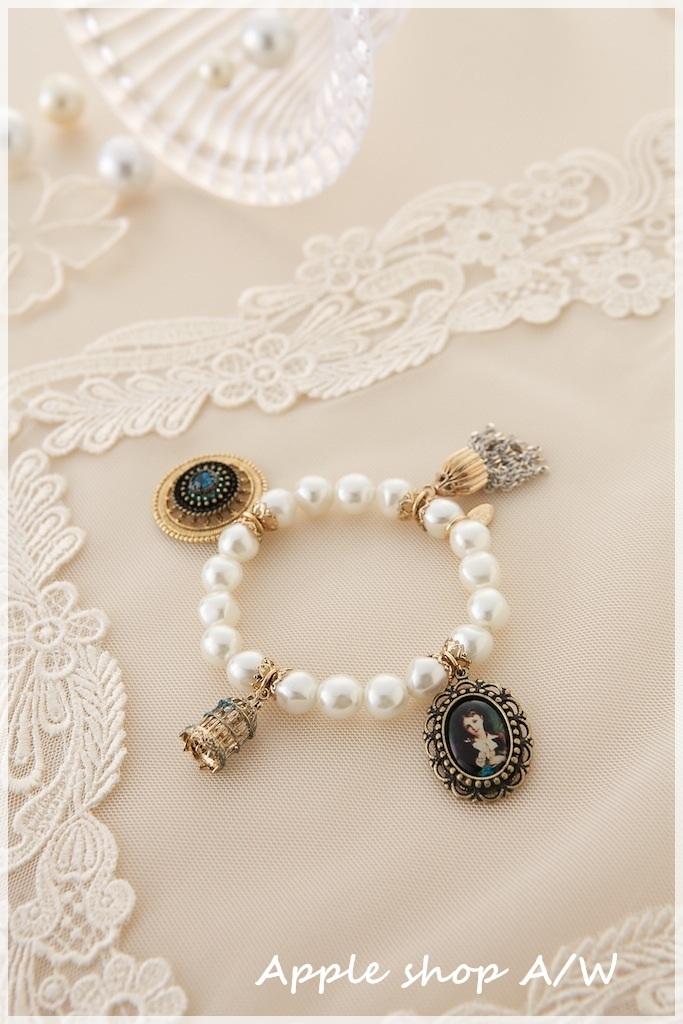 J008  法式復古流蘇小別針珍珠手環 1